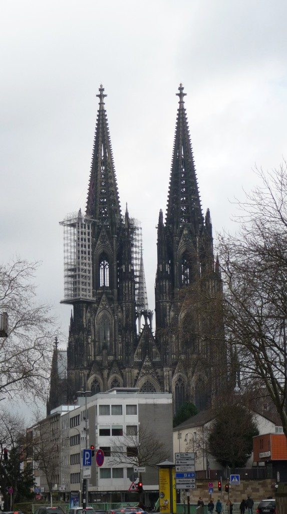 Kölner Dom mit Baugerust - Cologne Cathedral under construction - Katerdra w budowie - photo by Marek Seyda