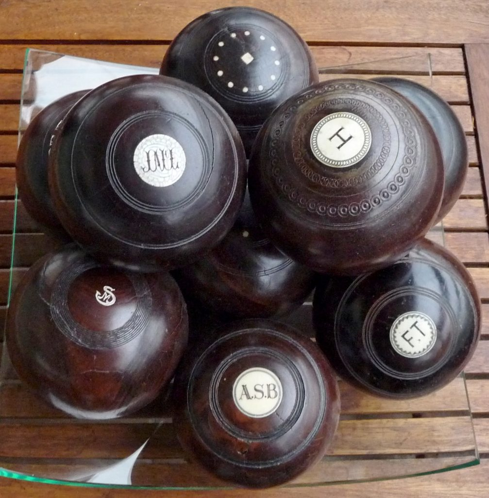 Antique English lawn bowling balls photo and collection by Marek Seyda