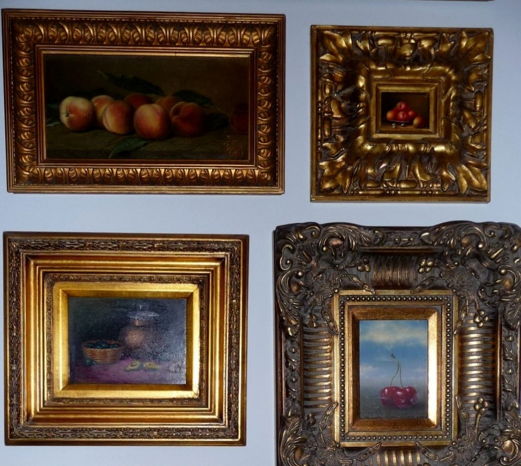 Antique oil paintings - collection and photo by Marek Seyda